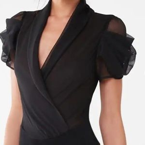 Sheer woven bodysuit